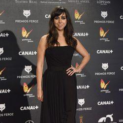 Carmen Ruiz en la alfombra roja de los Premios Feroz 2015