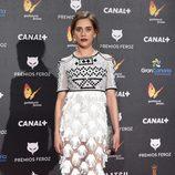 María León en la alfombra roja de los Premios Feroz 2015