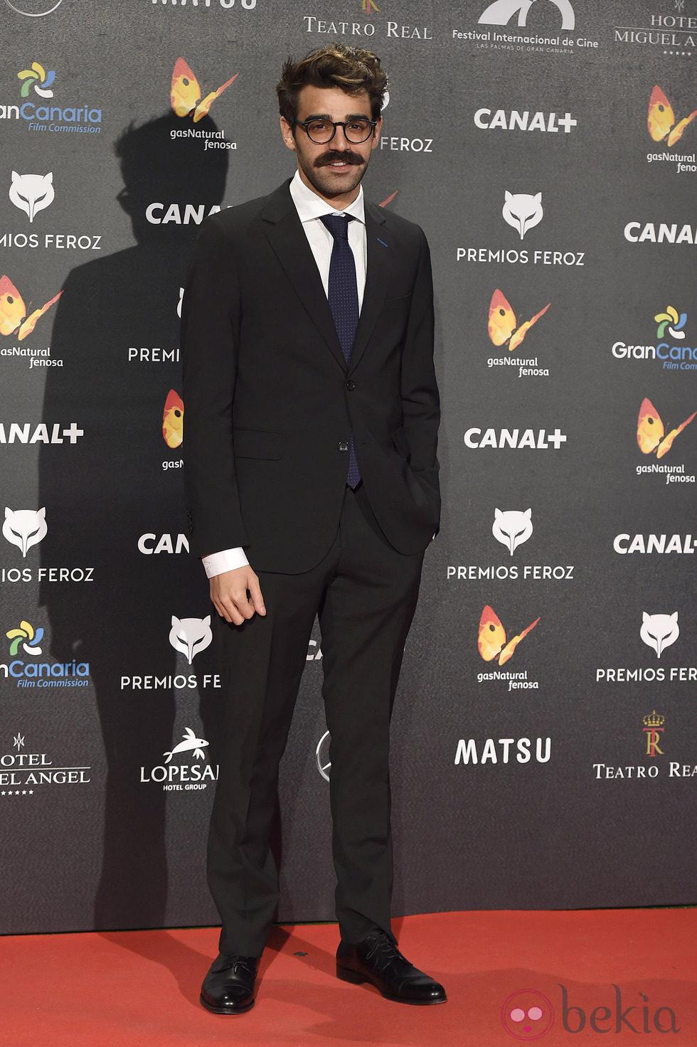 David Verdaguer en la alfombra roja de los Premios Feroz 2015