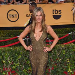 Jennifer Aniston en la alfombra roja de los Screen Actors Guild Awards 2015