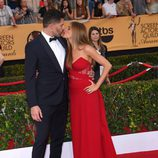 El beso de Sofia Vergara y Joe Manganiello en los premios Screen Actors Guild Awards 2015