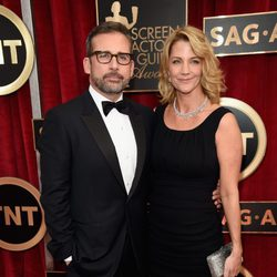 Steve y Nancy Carell en la alfombra roja de los Screen Actors Guild Awards 2015