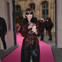Anna Wintour en el desfile de Schiaparelli en la Semana de la Alta Costura de París primavera/verano 2015