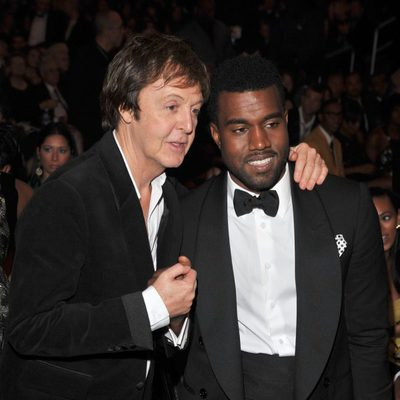 Paul McCartney y Kanye West en los premios Grammy de 2009