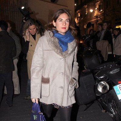 Lourdes Montes en el funeral de María Pérez Montané, madre de Los Morancos