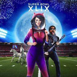 Katy Perry con Lenny Kravitz en el anuncio de la Super Bowl 2015