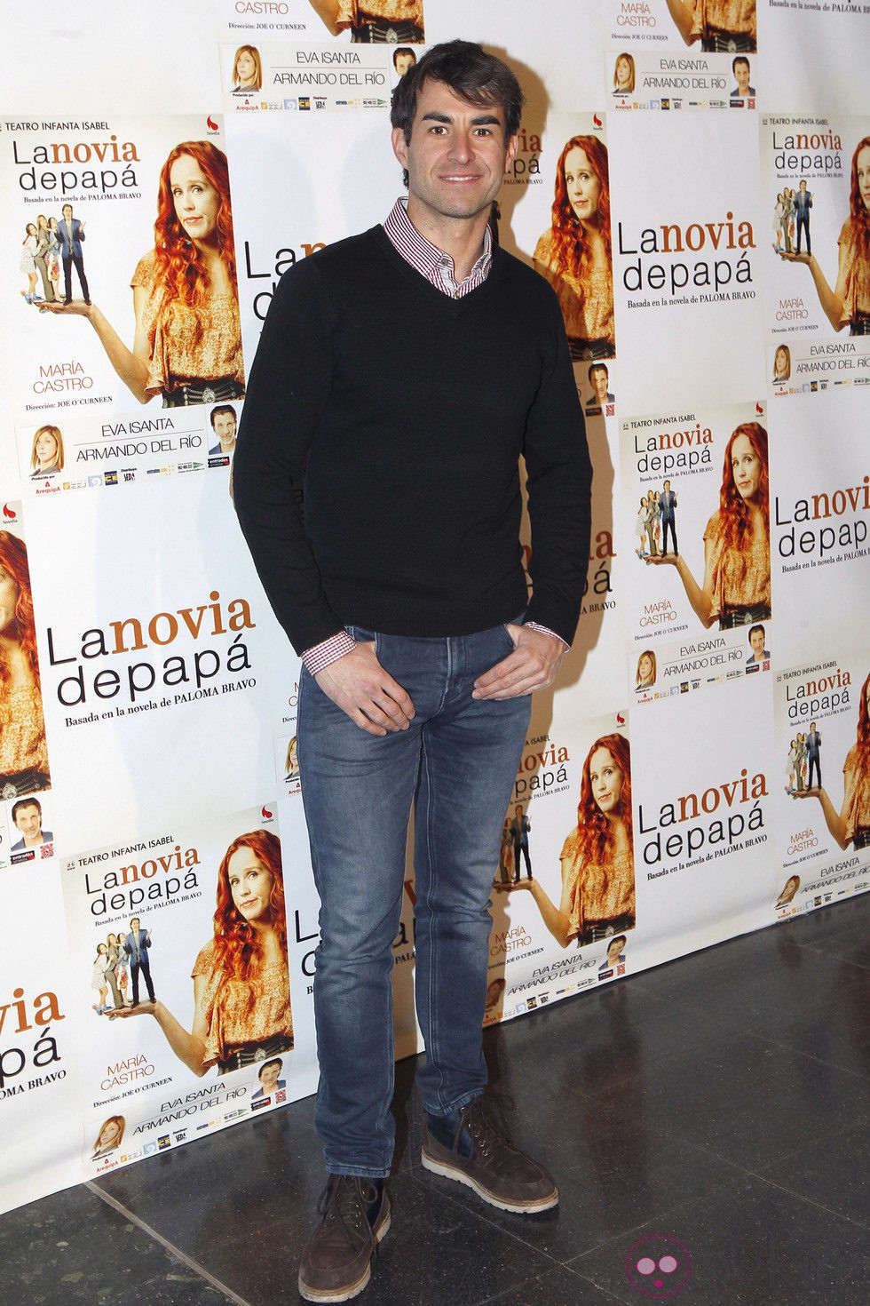 Daniel Muriel en el estreno de la obra de teatro 'La novia de papá'