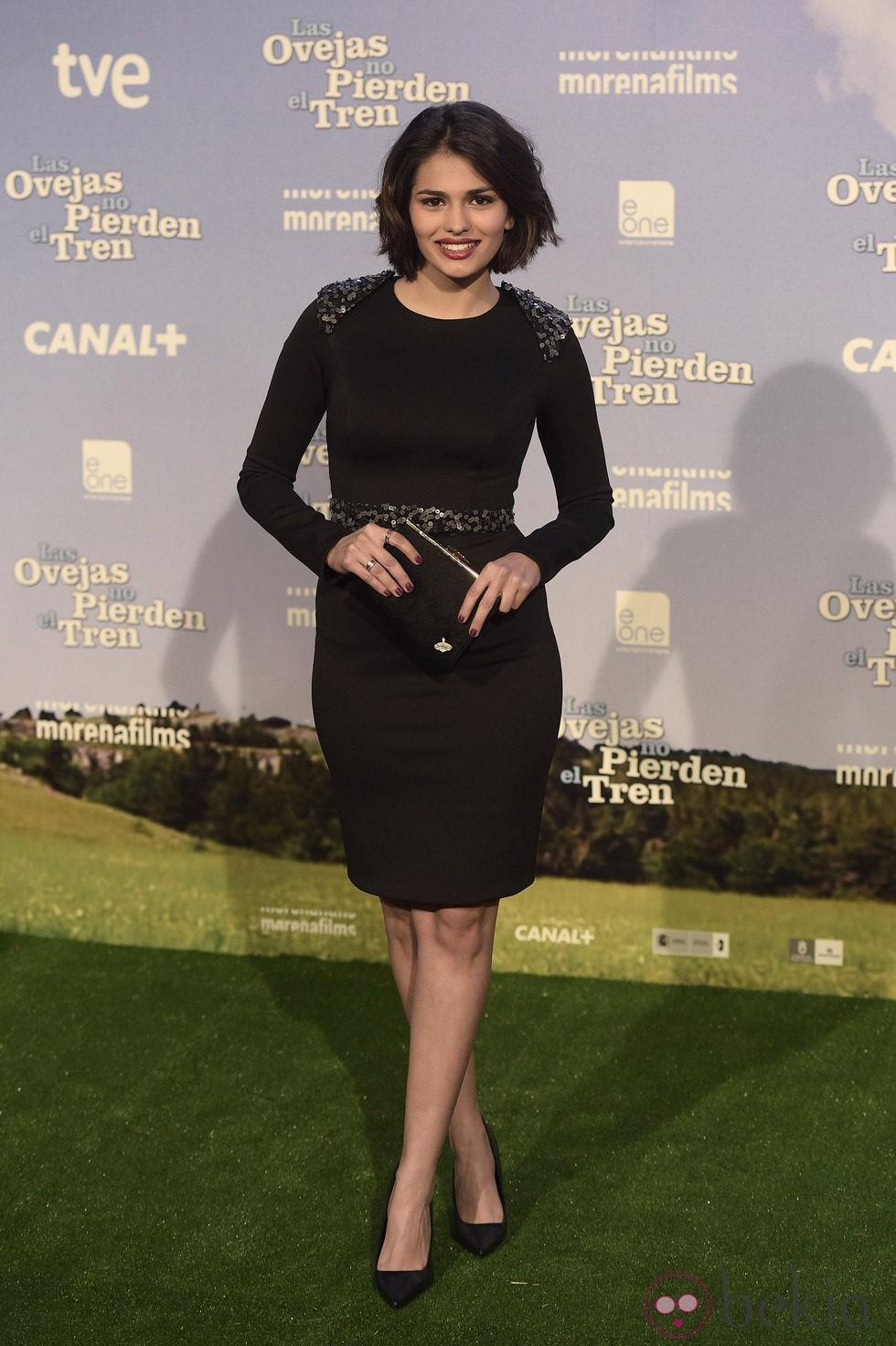 Sara Sálamo en el estreno de 'Las ovejas no pierden el tren'