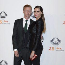 Guti y Romina Belluscio en la fiesta del 25º Aniversario de Antena 3