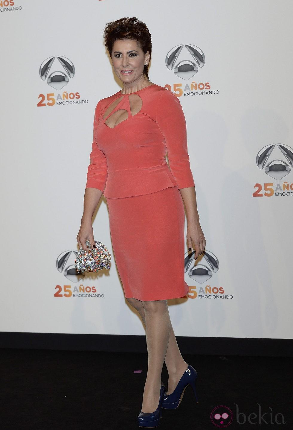 Irma Soriano en la fiesta del 25º Aniversario de Antena 3