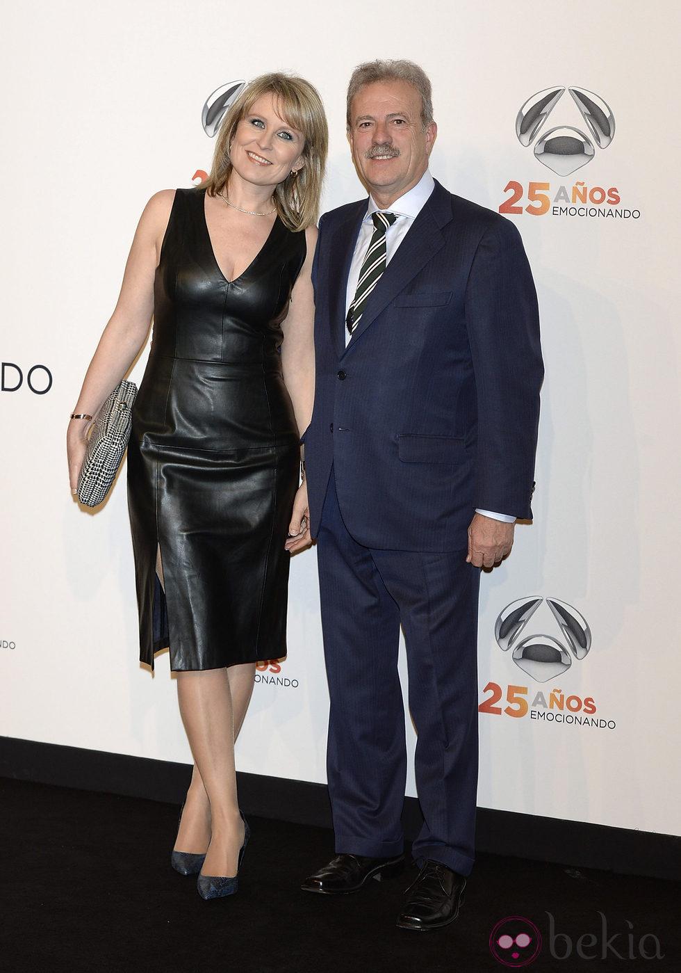Maria Rey y Manuel Campo Vidal en la fiesta del 25º Aniversario de Antena 3