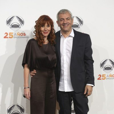 Carlos Sobera y Patricia Santamaría en la fiesta del 25º Aniversario de Antena 3