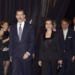 Los Reyes Felipe y Letizia llegando a la fiesta del 25 aniversario de Antena 3