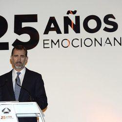 El Rey Felipe durante su discurso en la fiesta del 25 aniversario de Antena 3
