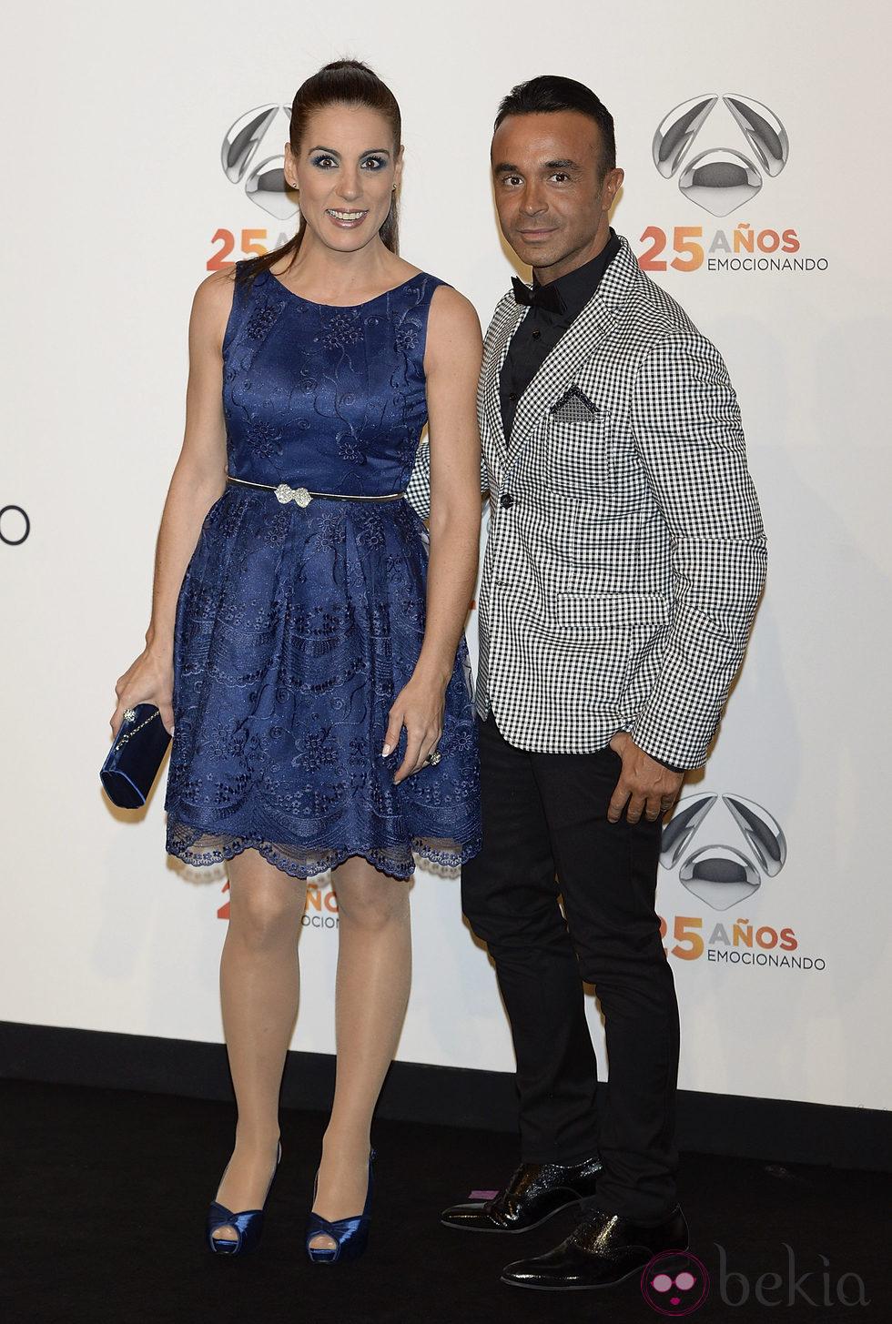 Alicia Senovilla y Luis Rollán en la fiesta del 25º Aniversario de Antena 3