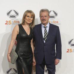 Manuel Campo Vidal y Maria Rey en la fiesta del 25º Aniversario de Antena 3