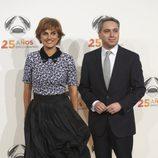 Lourdes Maldonado y Vicente Vallés en la fiesta del 25º Aniversario de Antena 3