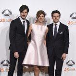 Javier Rey, Mauela Velasco y Diego Martín en la fiesta del 25 aniversario de Antena 3