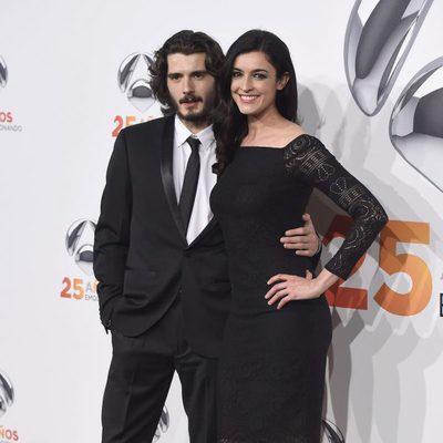 Blanca Romero y Yon González en la fiesta del 25 aniversario de Antena 3