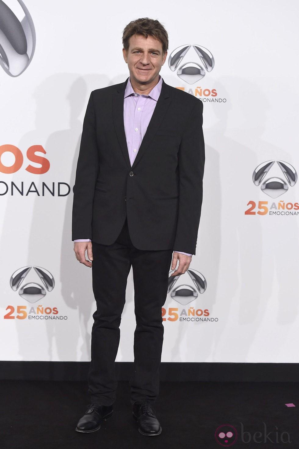 Juanjo Artero en la fiesta del 25 aniversario de Antena 3