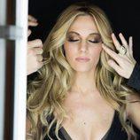 Edurne durante el rodaje del videoclip de 'Amanecer'