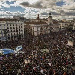 Manifestación '31E: La Marcha Del Cambio' convocada por Podemos