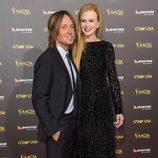 Nicole Kidman y Keith Urban en la alfombra roja de la gala G'Day USA 2015