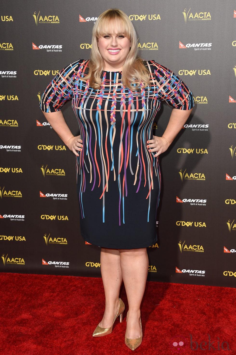 Rebel Wilson en la alfombra roja de la gala G'Day USA 2015