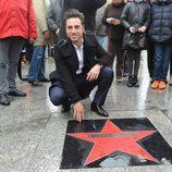 David Bustamante recibe una estrella en el 'Paseo de la Fama' de Santander