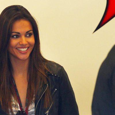 Lara Álvarez en los entrenamientos de Fórmula Uno de Jerez