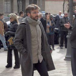 Jordi Évole en el funeral de José Manuel Lara Bosch en Barcelona