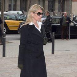 Patricia Rato en el funeral de José Manuel Lara Bosch en Barcelona