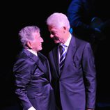 Bill Clinton y Tony Bennett en el 85 cumpleaños de Tony Bennett
