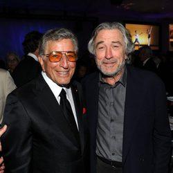 Robert De Niro y Tony Bennett en el 85 cumpleaños de Tony Bennett