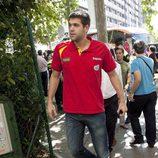 Felipe Reyes en la celebración de la victoria del Eurobasket 2011