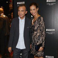 Antonio Gallo e Inés Sastre en la inauguración de la tienda Pirelli en Milán