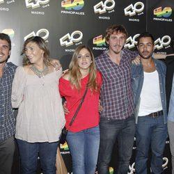 Los actores de 'El Barco' en la inauguración de 40 Café en Madrid