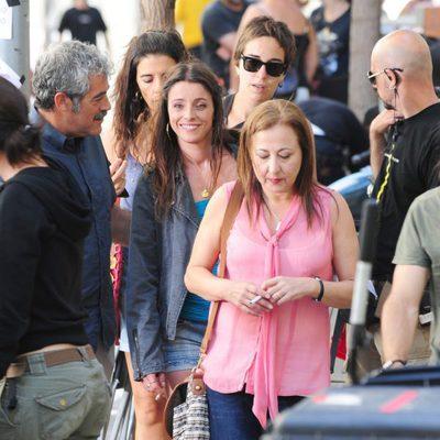 Carmen Machi e Ingrid Rubio rodando la película 'La estrella' en Barcelona