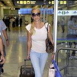 Belén Esteban aterriza en Madrid tras su separación de Fran Álvarez