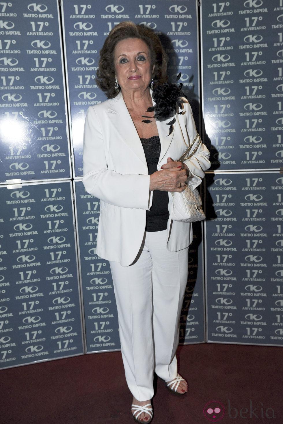 María Ángeles Sanz en la fiesta del 17 aniversario de la discoteca Kapital