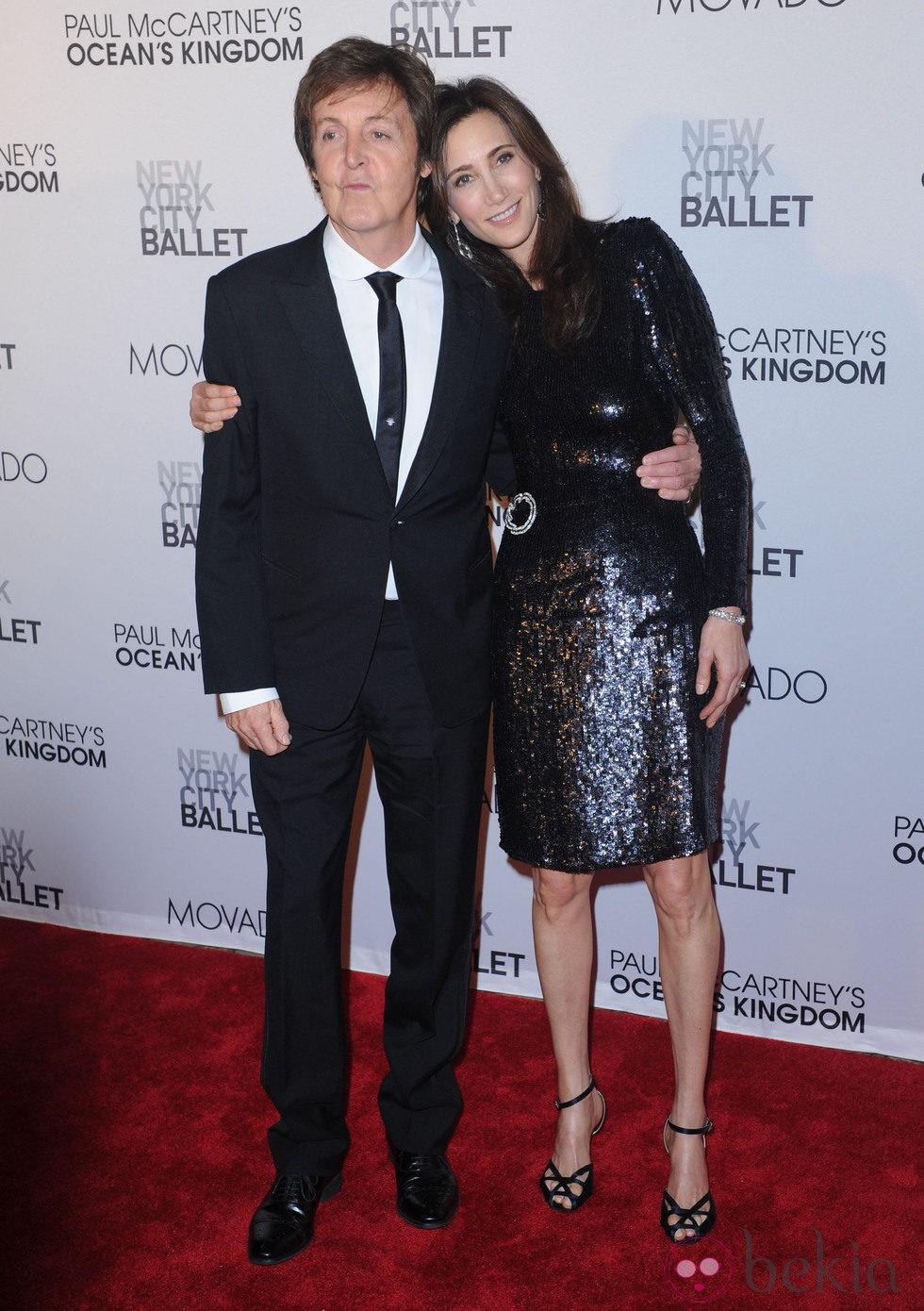 Paul McCartney y Nancy Shevell en la New York City Ballet Fall Gala 2011