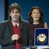 Isaki Lacuesta y Luisa Matienzo durante la gala de clausura del Festival de San Sebastián 2011