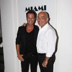 Nacho Polo y Kike Sarasola en una fiesta en Miami