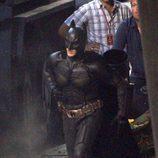 Christian Bale en el rodaje de 'El caballero oscuro: la leyenda renace'