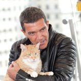 Antonio Banderas en la presentación de 'El gato con botas' en Moscú
