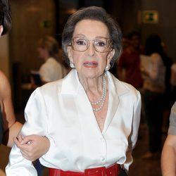 Amparo Rivelles en su homenaje en el Instituto Cervantes