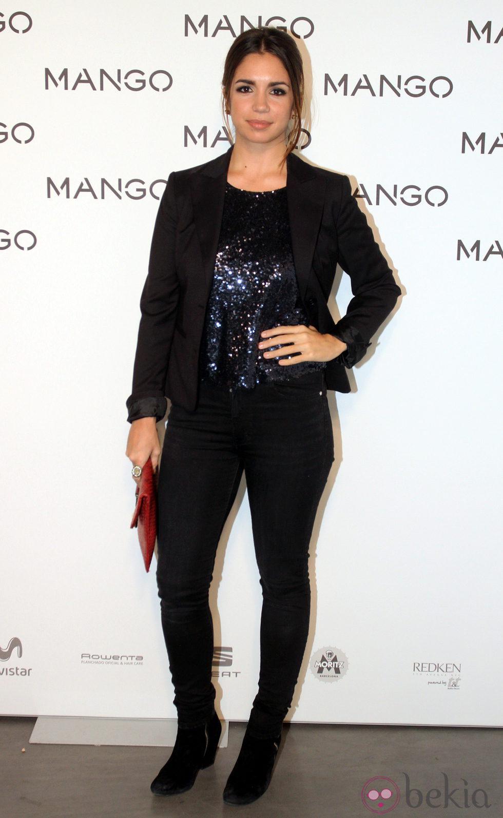 Elena Furiase en el desfile de Mango en 080 Barcelona fashion primavera/verano 2015