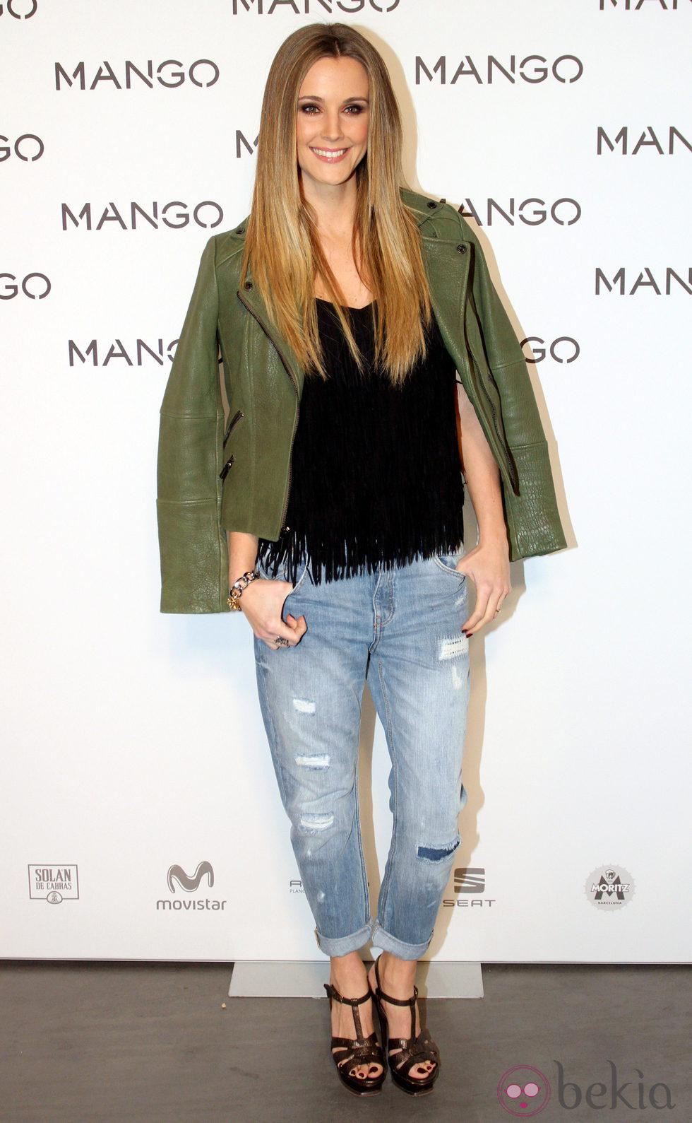Astrid Klisans en el desfile de Mango en 080 Barcelona fashion primavera/verano 2015