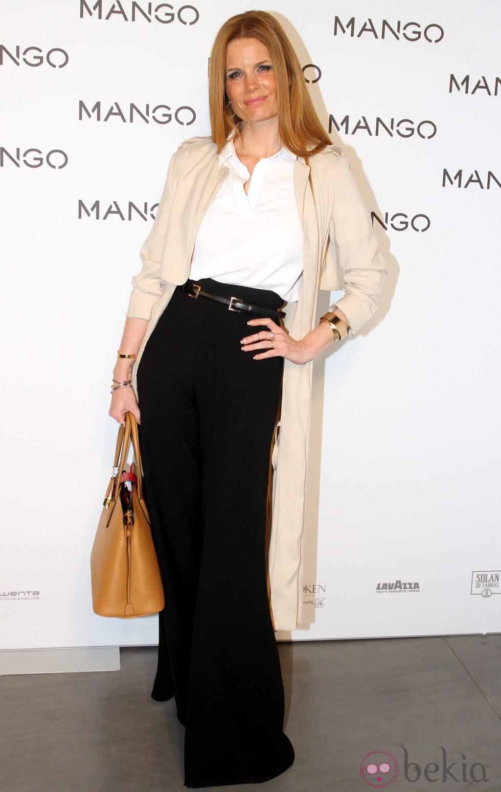 Olivia de Borbón en el desfile de Mango en 080 Barcelona fashion primavera/verano 2015