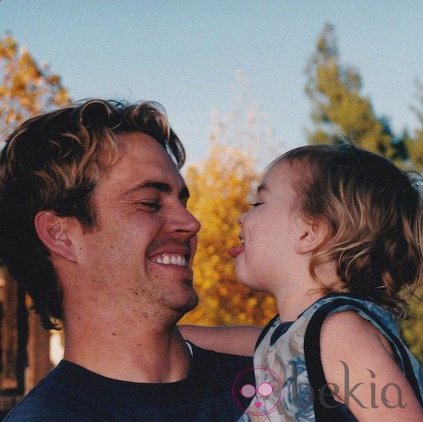 Paul Walker con su hija Meadow